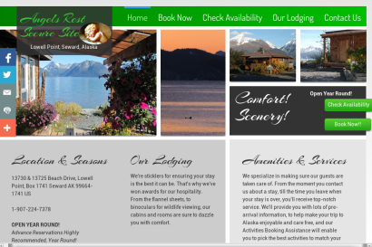 Screen Shot Angels Rest Secure Booking Site